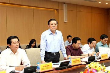 Ban Nội chính Trung ương làm việc với Ban Cán sự Đảng Bộ Xây dựng về công tác phòng chống tham nhũng