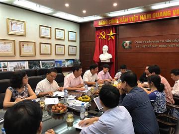 Họp định kỳ Quý II với Tổng Công ty Tư vấn Xây dựng Việt Nam- CTCP