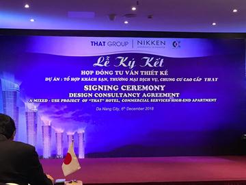 Lễ ký kết Hợp đồng Tư vấn thiết kế Dự án Tổ hợp khách sạn, Thương mại dịch vụ và Chung cư cao cấp THAT
